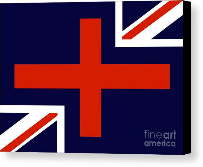 Union Jack Flag. Union Jacks Canvas Print featuring the digital art Jax by John Albury