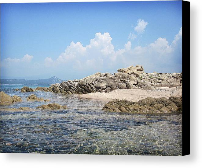 Horizontal Canvas Print featuring the photograph Beach Tonnara by by Crysse