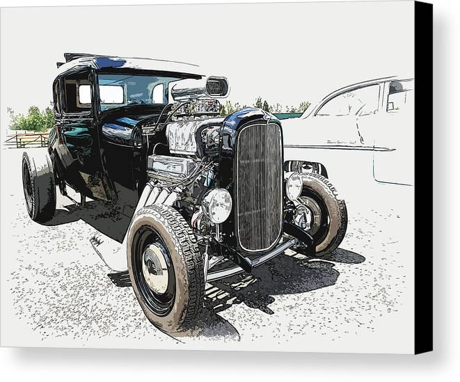 Hot Rod Canvas Print featuring the photograph Blown Coupe by Steve McKinzie