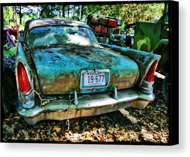 Car Canvas Print featuring the photograph Chrysler Saratoga by John Derby