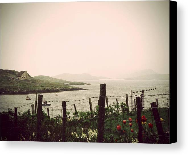 Isle Of Barra Canvas Print featuring the photograph Cottage By The Sea Barra by Jasna Buncic