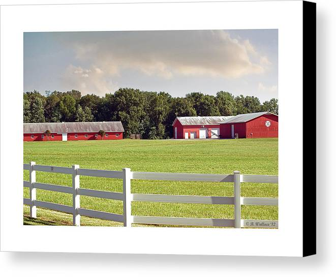 2d Canvas Print featuring the photograph Farm Pasture by Brian Wallace