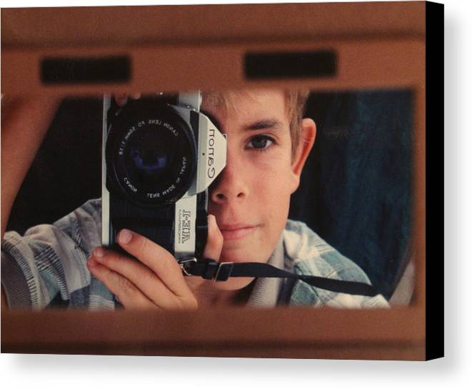 Self Canvas Print featuring the photograph First Self-portrait by David Paul Murray
