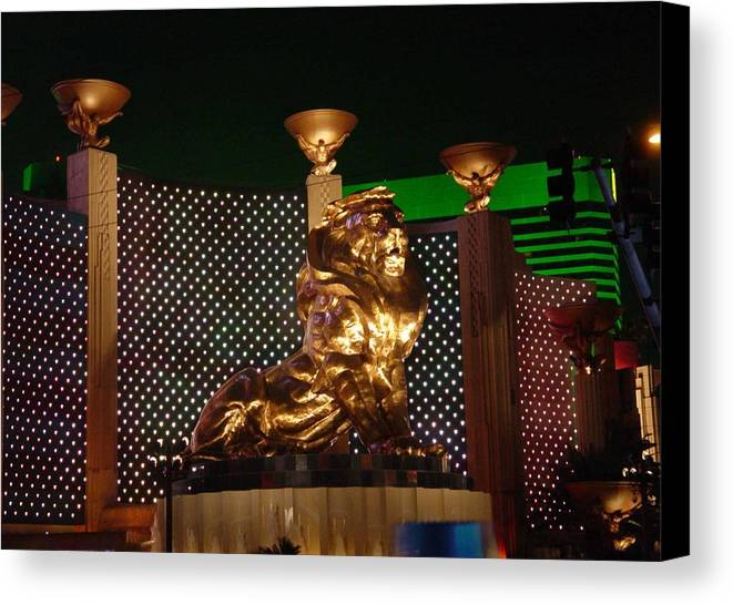 Lion Canvas Print featuring the photograph Mgm Lion by Dominic Olivares