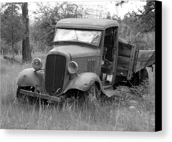 Hot Rod Canvas Print featuring the photograph Old Chevy Truck by Steve McKinzie