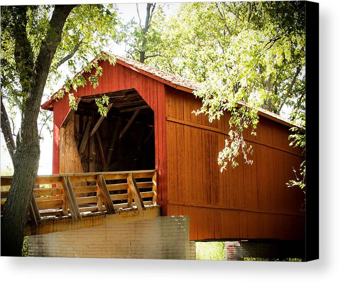 Covered Bridge Canvas Print featuring the photograph Old Covered Bridge by Sherri Powell