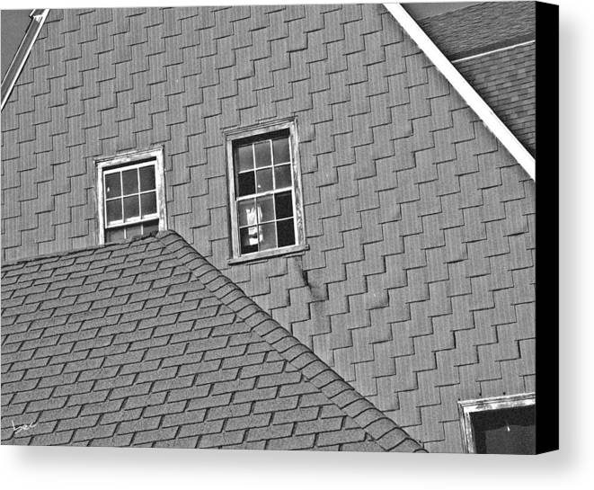 Roof Canvas Print featuring the photograph Roof Lines by Bruce Carpenter