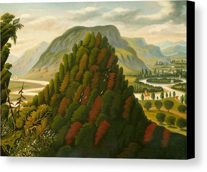 Painting Canvas Print featuring the painting The Connecticut Valley by Mountain Dreams