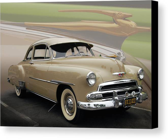 51 Canvas Print featuring the photograph 51 Chevrolet Deluxe by Bill Dutting