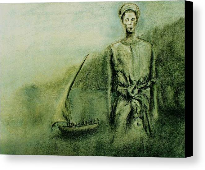 Woman Canvas Print featuring the drawing A Bunyakyusa Woman by Mushtaq Bhat