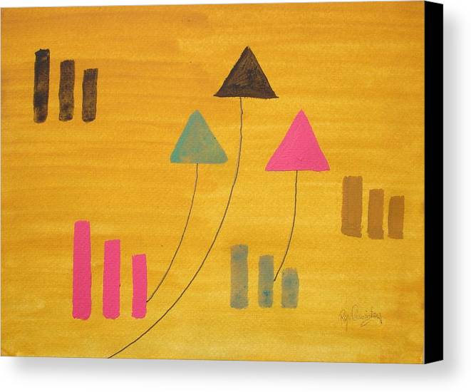 Abstract Canvas Print featuring the painting Abstract by Roger Cummiskey