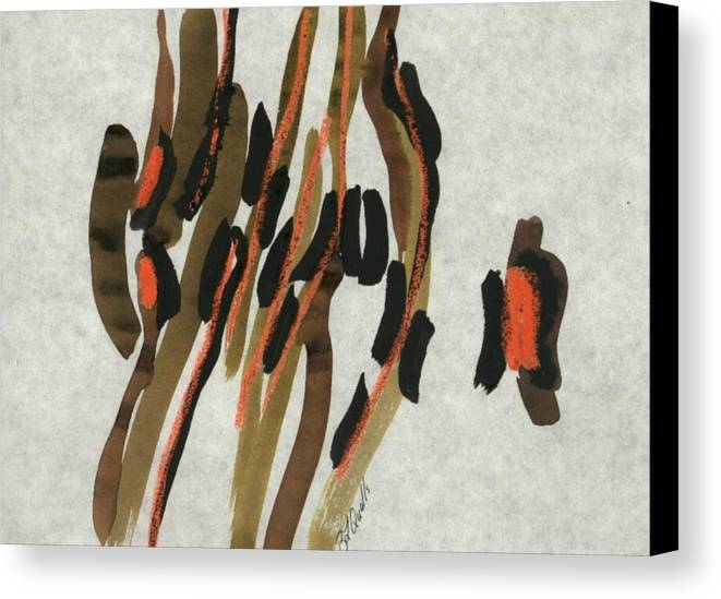 Abstract Canvas Print featuring the painting Africa by B L Qualls