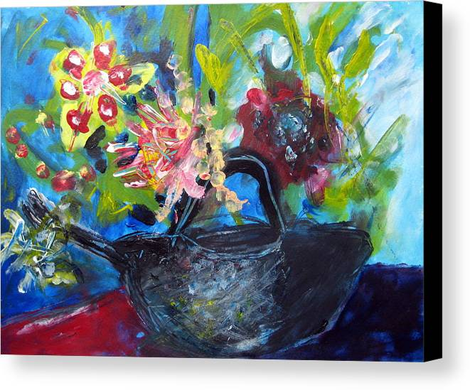 Teapot Canvas Print featuring the painting Afternoon Tea Two by Rebecca Merola