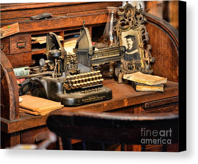 Paul Ward Canvas Print featuring the photograph Antique Typewriter by Paul Ward