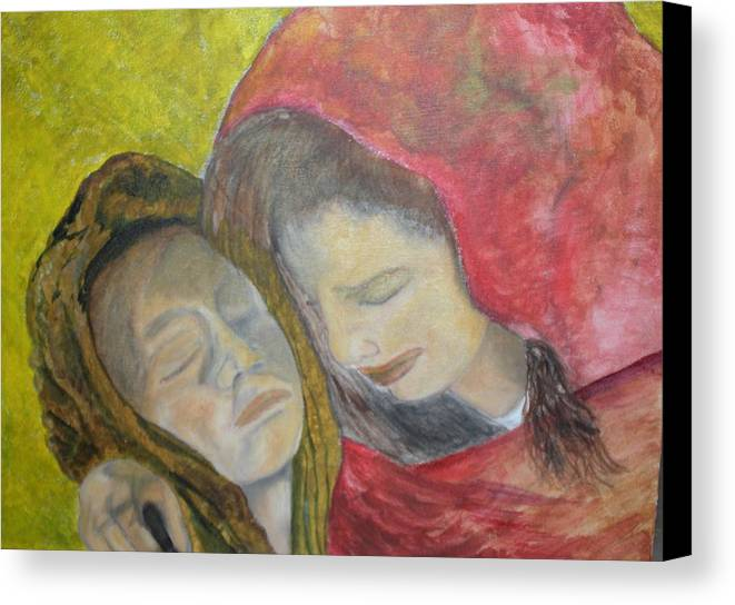 New Artist Canvas Print featuring the painting At Last They Sleep by J Bauer
