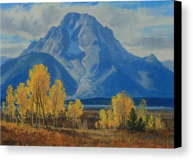 Canvas Print featuring the painting Autumn-willow Flats by Lanny Grant