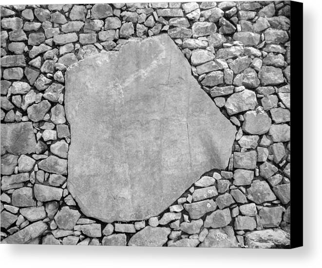 Machu Picchu Canvas Print featuring the photograph Big Rock by Marcus Best