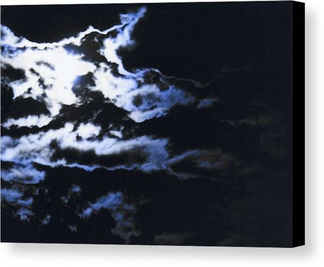 Cloudscape Canvas Print featuring the photograph Blue Moon by Curtis Schauer
