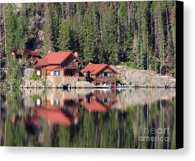 Cabin Canvas Print featuring the photograph Cabin by Amanda Barcon