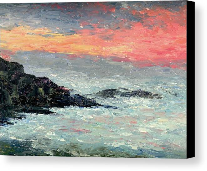 Seascape Canvas Print featuring the painting California Coast by Gail Kirtz