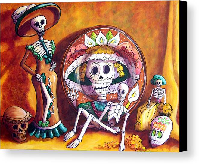 Still Life Canvas Print featuring the painting Catrina Still Life by Candy Mayer