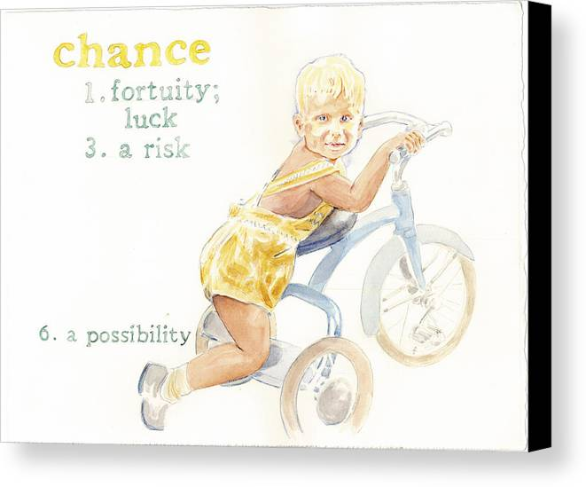 Kids Canvas Print featuring the painting Chance by Janice Crow