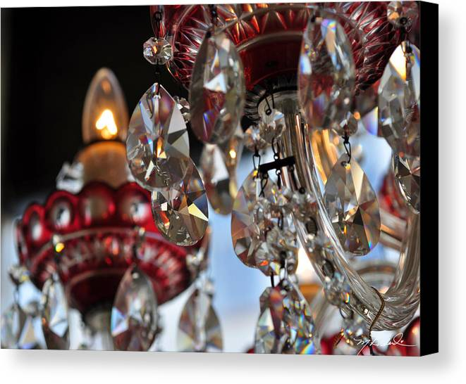 Canvas Print featuring the photograph Chandelier Project 3 by Melissa Wyatt