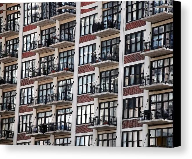 Landscape Canvas Print featuring the photograph City Living by M Ryan