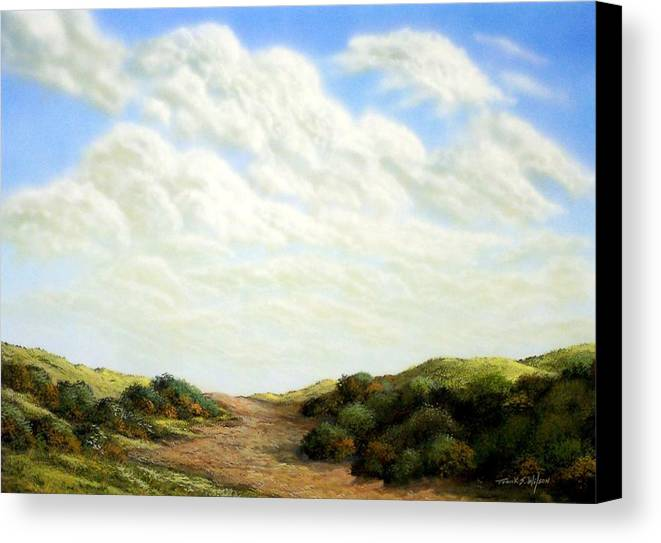 Landscape Canvas Print featuring the painting Clouds Of Spring by Frank Wilson