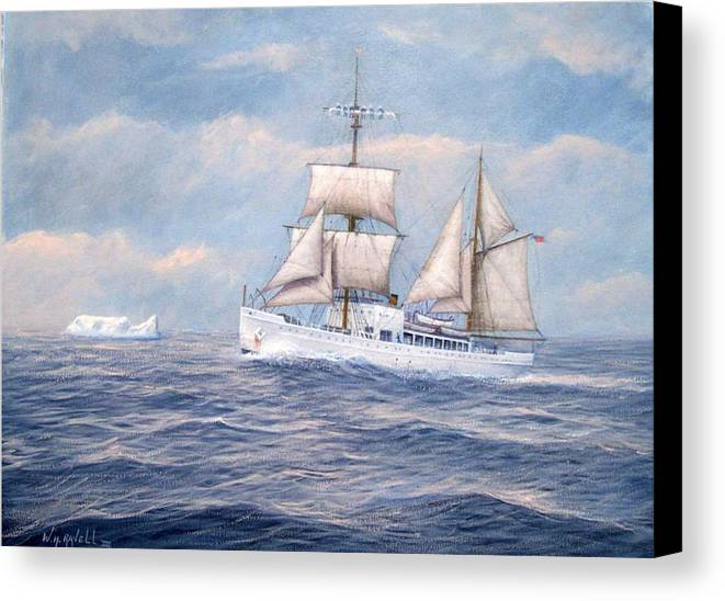Coast Guard Canvas Print featuring the painting Coast Guard Cutter Northland by William H RaVell III