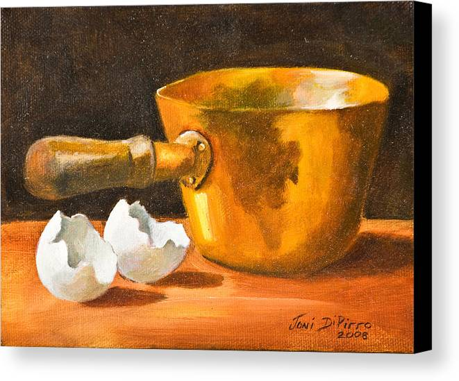 Pot Canvas Print featuring the painting Eggshell by Joni Dipirro