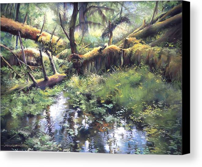 Trees Canvas Print featuring the painting Fallen Giants by Marion Hylton