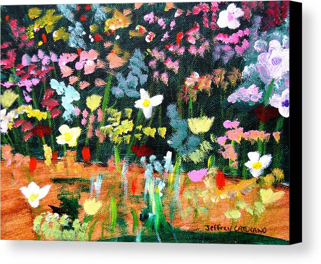 Flowers Canvas Print featuring the painting Flower Detail by Jeff Caturano