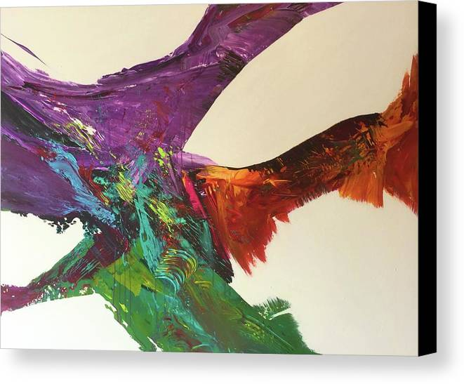 Fluid Abstract Painting John Cammarano Canvas Print featuring the painting Fluid#1.2 by John Cammarano