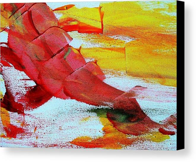 Abstract Canvas Print featuring the painting Folks Are Murdering Wolves  Detail by Bruce Combs - REACH BEYOND