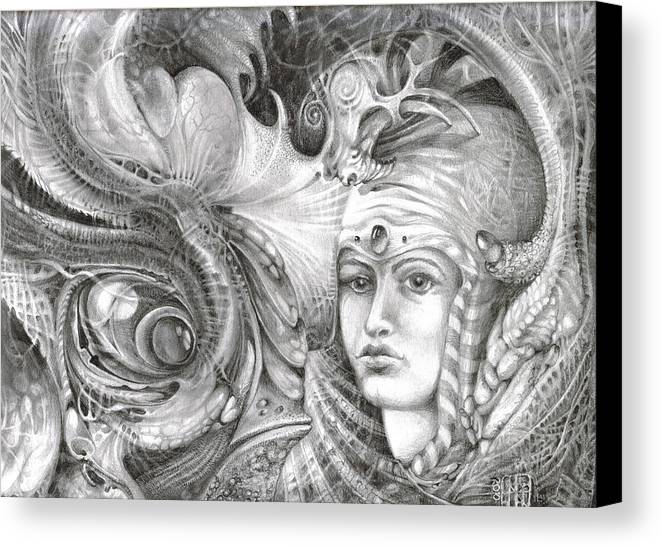 otto Rapp Canvas Print featuring the drawing Fomorii King And Queen by Otto Rapp