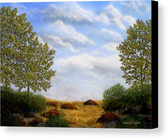Landscape Canvas Print featuring the painting Foothills Afternoon by Frank Wilson