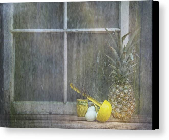 Pineapple Canvas Print featuring the photograph For Thought by Nichon Thorstrom