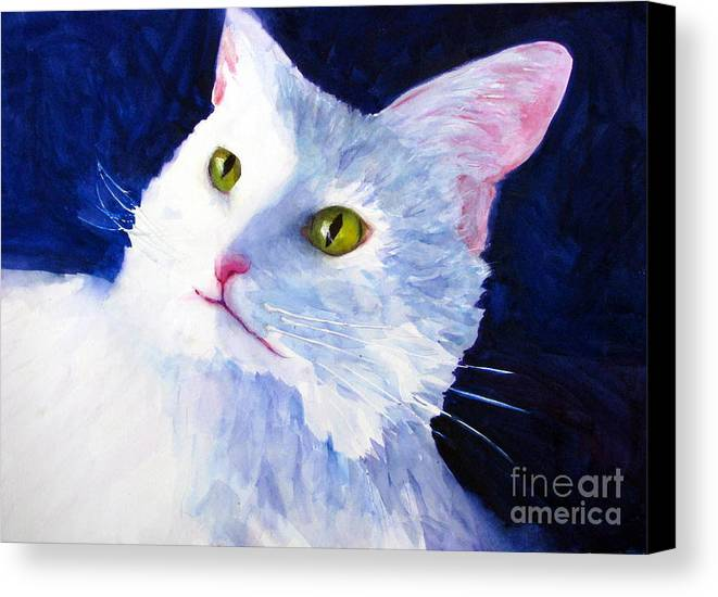 Cat Canvas Print featuring the painting Freddie Francis by Rhonda Hancock