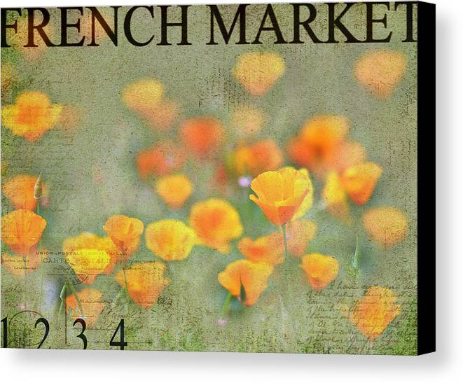 French Market Canvas Print featuring the photograph French Market Series Q by Rebecca Cozart
