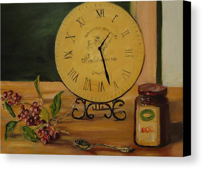 Konkol Canvas Print featuring the painting Friendship Is Timeless by Lisa Konkol