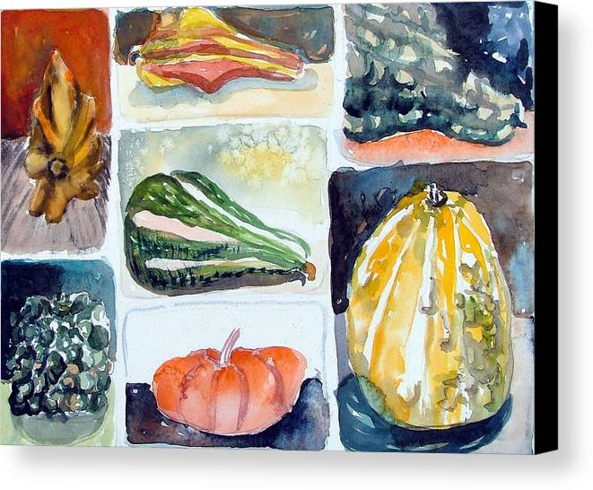 Gourd Canvas Print featuring the painting Gourd Collection by Mindy Newman