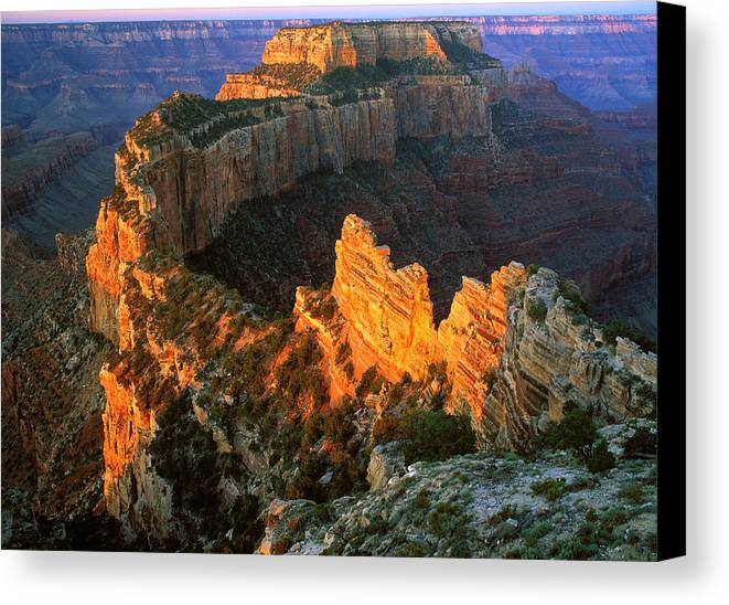 Usa Canvas Print featuring the photograph Grand Canyon North Rim by Johan Elzenga