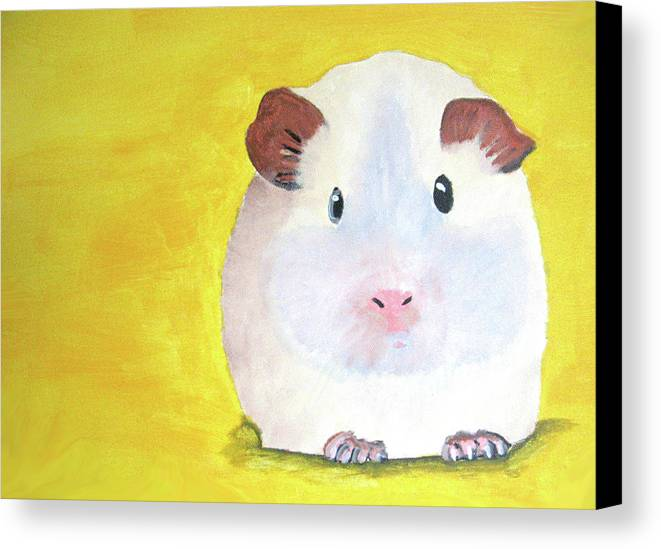 Guinee Canvas Print featuring the painting Guinee Pig by Darren Stein