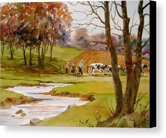 Landscape Canvas Print featuring the painting Homeward Bound by Faye Ziegler
