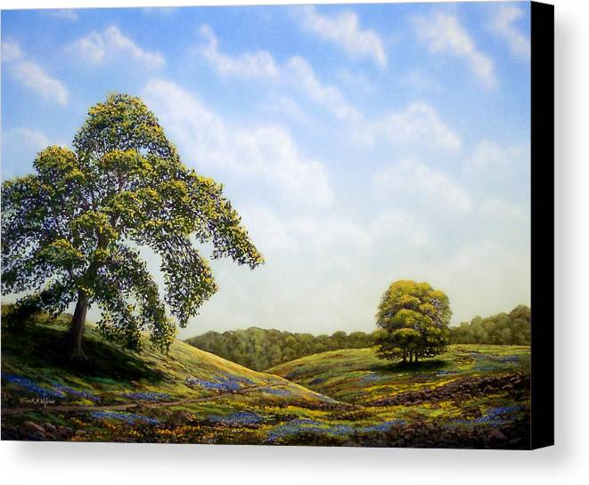 Landscape Canvas Print featuring the painting In Bloom by Frank Wilson