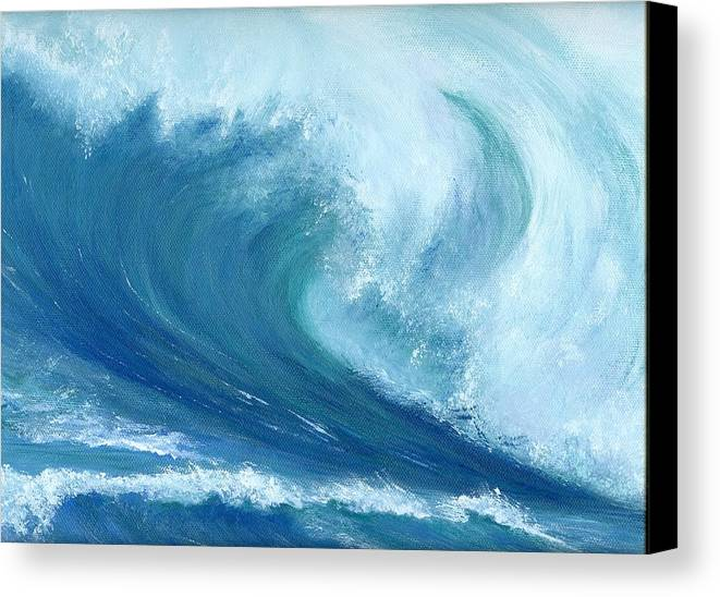 Wave Canvas Print featuring the painting Inside Out by Laura Johnson