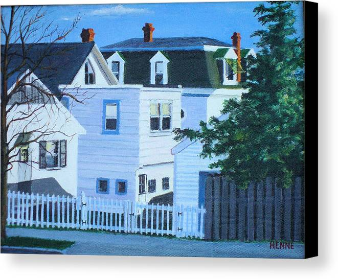 Island Heights Canvas Print featuring the painting Island Heights Back Yards by Robert Henne