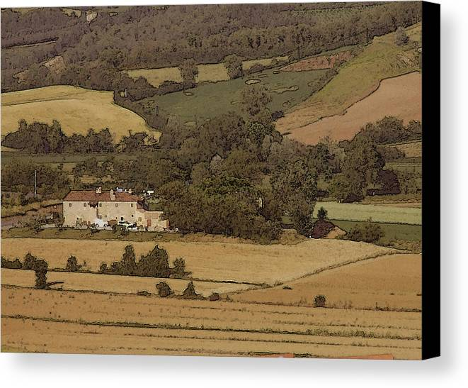 Landscape Canvas Print featuring the photograph Italian Farmhouse by Chuck Shafer