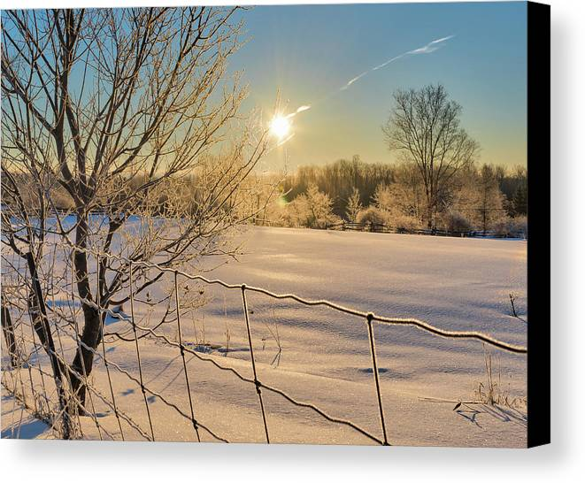 Landscape Canvas Print featuring the photograph It's A Warm Cold... by Ian Sempowski